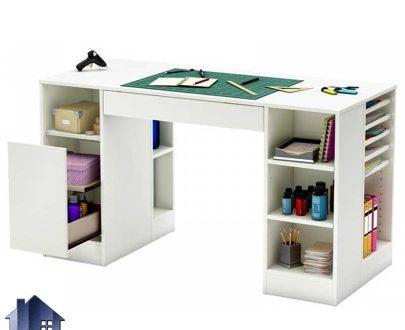 میز تحریر SDJ291 دارای شلف قفسه و به صورت کشو دار که به عنوان میز کامپیوتر لپ تاپ و میز کار و مطالعه در داخل اتاق خواب کودک و نوجوان و بزرگسال قرار میگیرد.