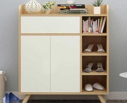 جاکفشی و جالباسی SHJ290 به صورت کشو دار درب دار قفسه دار به عنوان استند و براکت کفش در اتاق خواب و ورودی منزل مورد استفاده قرار میگیرد.