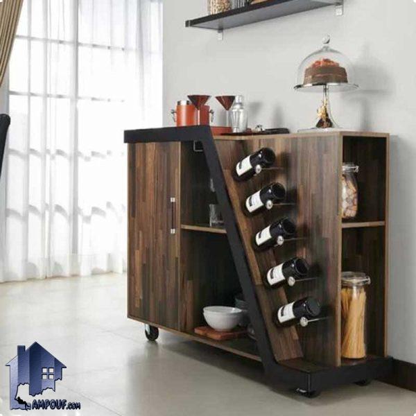 میز بار BTJ124 دارای فضایی برای قرار گیری بطری و ظروف که به عنوان میز آشپزخانه و کانتر و میز پذیرایی در منازل و کافی شاپ و رستوران قرار میگیرد