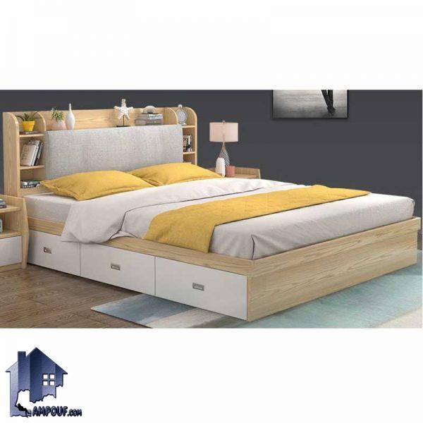 تخت خواب دو نفره DBJ135 با دو سایز کینگ King و کوئین Queen به عنوان باکس و تختخواب دونفره تاج دار و یا سرویس خواب در داخل اتاق استفاده میشود.