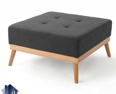 پاف PBJ111 دارای پایه چوبی که به عنوان جلومبلی در کنار مبلمان خانگی و اداری و نیمکت در پذیرایی و اتاق خواب در کنار سرویس خواب استفاده میشود.
