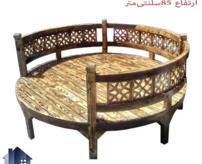 تخت چوبی سنتی گرد TrK235