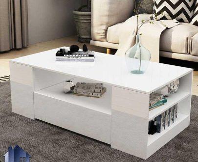 میز جلومبلی HOJ120 دارای دو کشو که به عنوان میز پذیرایی جلو مبلی و عسلی در کنار مبلمان در محیط خانگی و اداری مورد استفاده قرار میگیرد.