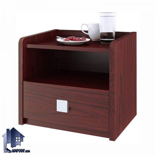 پاتختی BSTJ110 به صورت کشو دار و قفسه دار که به عنوان میز کنار تخت و دراور در کنار سرویس خواب در داخل اتاق کودک نوجوان بزرگسال استفاده میشود