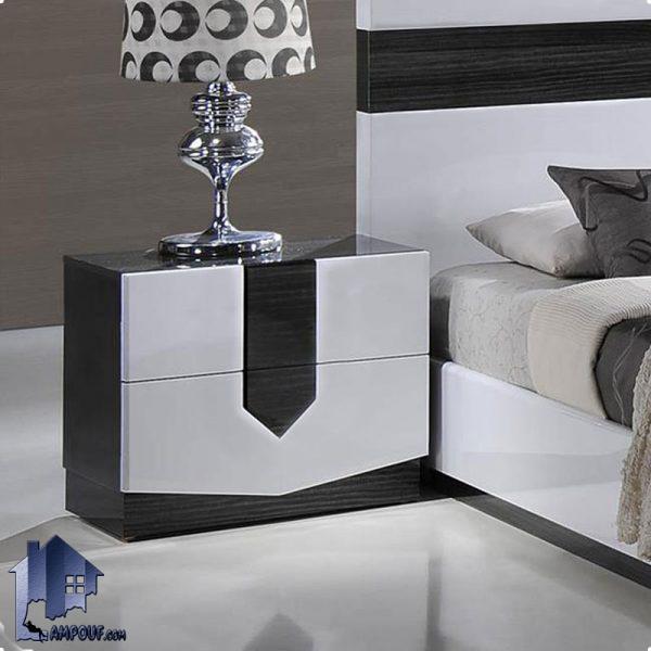پاتختی BSTJ111 کشو دار که به عنوان دراور و میز کنار تخت در کنار دیگر اقلام سرویس خواب در داخل اتاق خواب نوجوان و بزرگسال استفاده میشود.