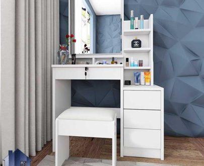 میز آرایش DJ379 که به عنوان میز توالت و گریم و یا دراور و کنسول آینه دار در کنار سرویس خواب در داخل اتاق نوجوان و بزرگسال استفاده میشود.