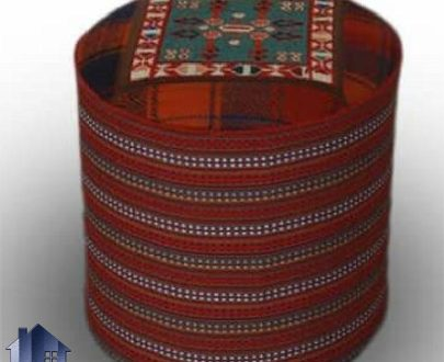 پاف سنتی PBG115 ساخته شده از جاجیم و گلیم که به عنوان صندلی و نیمکت در رستوران و قهوه خانه و همچنین در کنار تخت و مبلمان سنتی استفاده میشود.