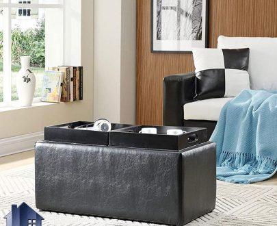 پاف PBJ120 که به صورت نیمکت دو نفره و یا میز جلومبلی و عسلی در کنار مبلمان خانگی و اداری و یا به عنوان صندلی میز آرایش و انتظار استفاده میشود.