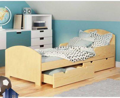تخت خواب یک نفره SBJ149 کشو دار که به عنوان تختخواب و سرویس خواب MDF یکنفره کودک و نوجوان و بزرگسال در داخل اتاق خواب استفاده میشود.