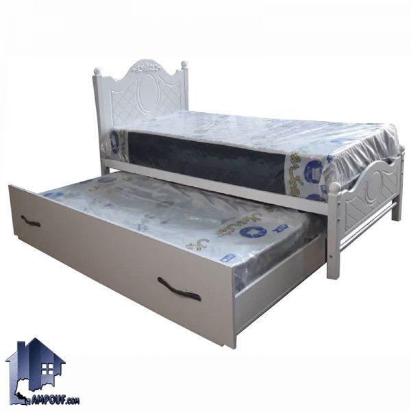 تخت خواب یک نفره SBV141 با بدنه فلزی و تاج وکیوم دارای تختخواب مهمان که به عنوان سرویس خواب یکنفره و دو نفره در اتاق خواب استفاده میشود