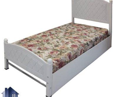 تخت خواب یک نفره SBV142 با بدنه فلزی رنگی و تاج وکیوم که به عنوان سرویس خواب تختخواب یکنفره در اتاق نوجوان و بزرگسال قابل استفاده میباشد