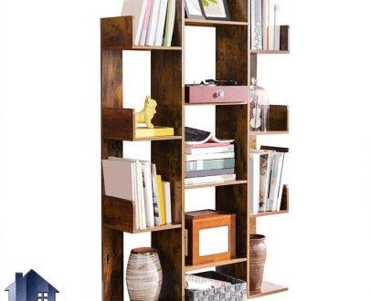 کتابخانه SCJ191 که به صورت شلف و قفسه و ویترین برای کتاب و اجناس تزئینی در داخل پذیرایی و اتاق خواب در محیط خانگی و اداری طراحی شده است