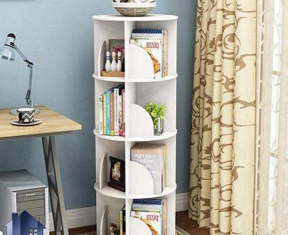 کتابخانه SCJ192 به صورت گرد که به عنوان قفسه و ویترین و شلف و جاکتابی در کنار دکور خانگی و اداری در داخل پذیرایی و اتاق خواب استفاده میشود