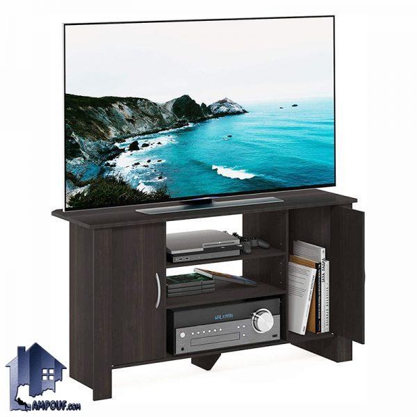 میز LCD مدل TTJ91 به صورت درب دار و قفسه دار که به عنوان زیر تلویزیونی و براکت و استند تلویزیون در تی وی روم و پذیرایی استفاده میشود