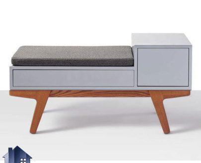 نیمکت کشو دار BJ103 که به عنوان صندلی و میز تلفن و کنسول نشیمن دار در پذیرایی و آشپزخانه و ورودی منزل و یا سالن های انتظار استفاده میشود.