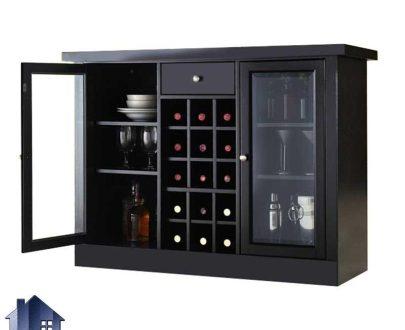 میز بار BTJ127 که به صورت ویترین و دکور زیبا برای قرار گیری ظروف در آشپزخانه و پذیرایی و کافی شاپ و رستوران مورد استفاده قرار میگیرد.