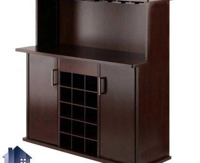 میز بار BTJ129 که به صورت کمد و ویترین و کنسول اپن و بار و قفسه ظروف و بطری در آشپزخانه و پذیرایی و کافی شاپ و رستوران استفاده میشود.