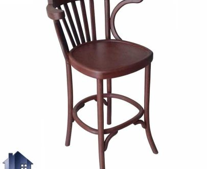 صندلی اپن BSB114 با طراحی لهستانی که به عنوان صندلی چوبی کانتر در کنار میز بار و پیشخوان در آشپزخانه و پذیرایی و کافی شاپ استفاده میشود