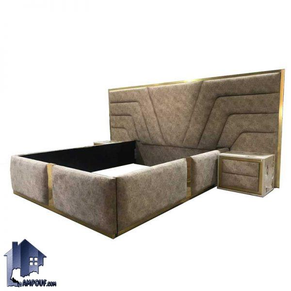 تخت خواب یک نفره SBRo402 که به عنوان سرویس خواب و تختخواب و تاج باکس یکنفره با لمسه کاری در داخل اتاق خواب مورد استفاده قرار میگیرد.