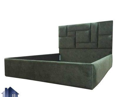 تخت خواب دو نفره DBRo410 با طراحی لمسه و چستر در قسمت تاج که به عنوان ست تاج باکس کینگ و کویئین در کنار سرویس خواب استفاده میشود.