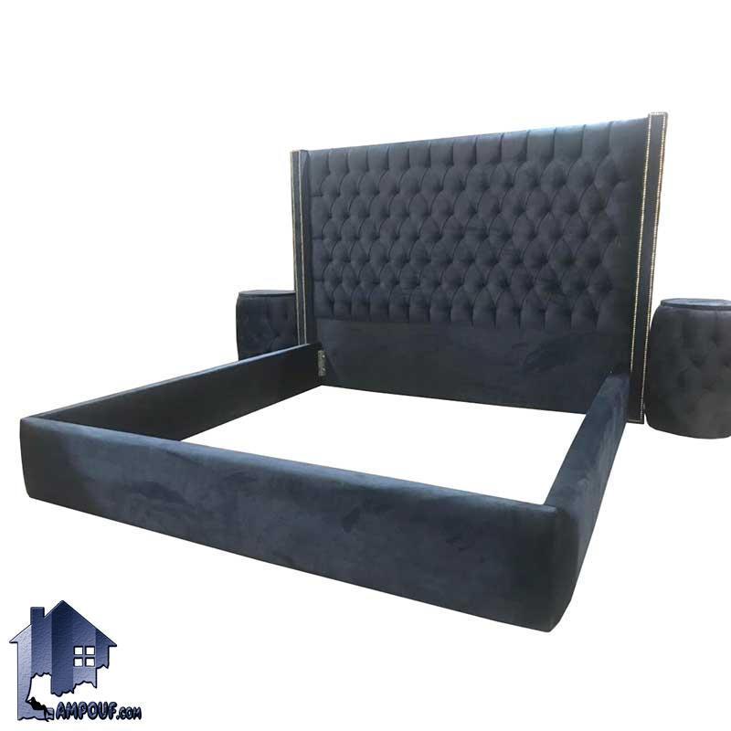 تخت خواب دو نفره چستر DBRo411 که به عنوان سرویس خواب و تختخواب و ست تاج باکس دونفره لمسه شده در اتاق خواب مورد استفاده قرار میگیرد.