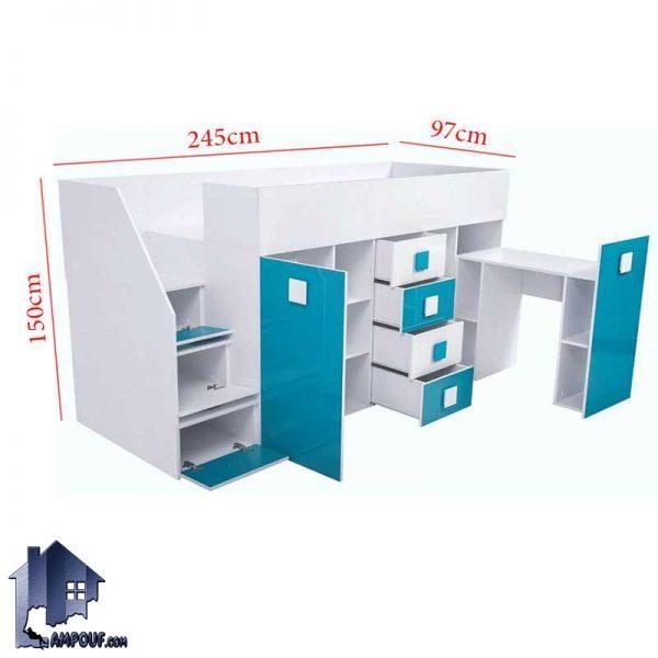 تخت خواب دو طبقه TBJ64