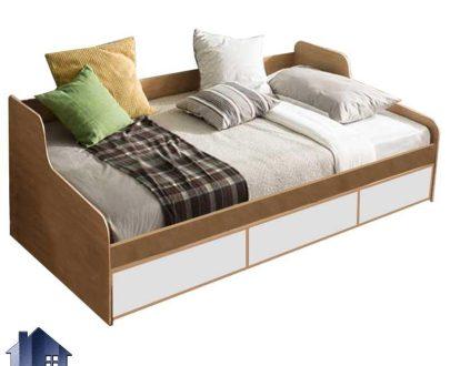 تخت خواب یک نفره SBJ158 کشو دار که به عنوان تخت باکس و سرویس خواب و تختخواب یکنفره دراور دار در اتاق نوجوان و بزرگسال استفاده میشود.