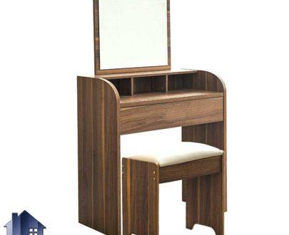 میز آرایش DJ513 دارای کشو و قفسه که به عنوان میز توالت و گریم و میز کنسول و دراور آینه دار در کنار سرویس خواب در اتاق استفاده میشود.