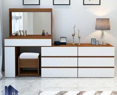 میز آرایش DJ515 دارای کشو و آینه که به عنوان کنسول و دراور و میز گریم و توالت در کنار دیگر اقلام سرویس خواب در اتاق استفاده میشود.