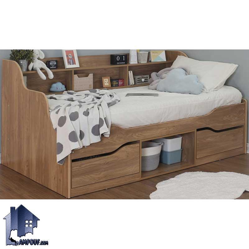 تخت خواب یک نفره SBJ157 که به عنوان تختخواب و تخت باکس و سرویس خواب یکنفره کشو دار در اتاق نوجوان و بزرگسال مورد استفاده قرار میگیرد.