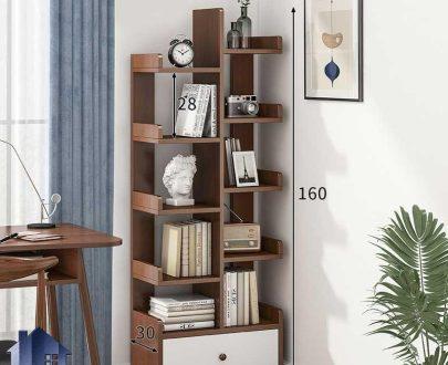کتابخانه SCJ200 دارای قفسه و کشو که به عنوان جاکتابی در کنار سرویس خواب در اتاق و به عنوان ویترین در دکور پذیرایی استفاده میشود