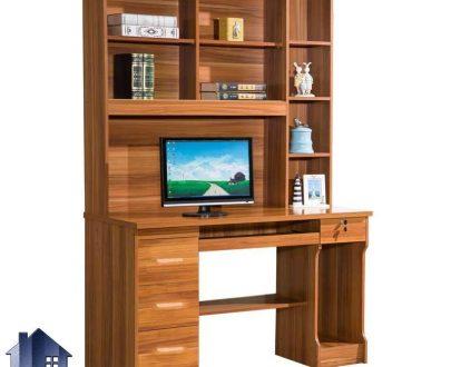 میز کامپیوتر SDJ335 دارای کشو و فایل و کتابخانه که به عنوان میز تحریر و مطالعه و لپ تاپ در کنار سرویس خواب مورد استفاده قرار میگیرد.