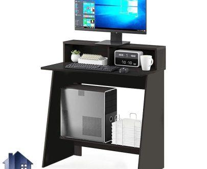 میز کامپیوتر SDJ339 دارای قفسه و جای کیس که به عنوان میز تحریر و لپ تاپ و مطالعه و میز کار و دانش آموزی در کنار سرویس خواب قرار میگیرد