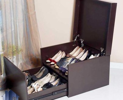 جاکفشی SHJ333 دارای کشو و درب جکدار که به صورت باکس کمجا به عنوان کمد کفش در کنار سرویس خواب در اتاق و یا در ورودی منزل استفاده میشود.