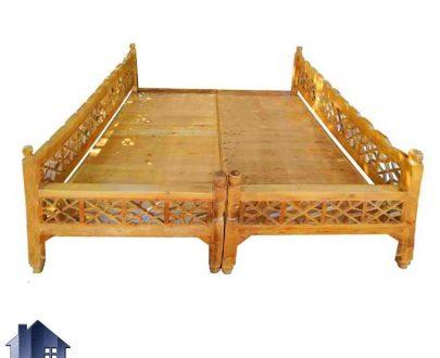 تخت سنتی هشت نفره TrK268 به صورت چوبی و دارای گره چینی که به عنوان تخت قهوه خانه ای و سفره خانه ای در منازل و رستوران ها استفاده میشود.