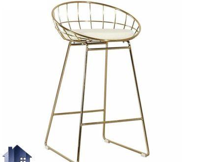 صندلی اپن نایس BSO814 با بدنه فلزی آبکاری که به عنوان صندلی بار کنار میز کانتر و پیشخوان در آشپزخانه و رستوران و کافی شاپ استفاده میشود.