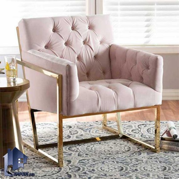 صندلی راحتی هادسون Coo102 که به عنوان مبل چستر و میزبان یک نفره فلزی در سالن انتظار و پذیرایی و کافی شاپ، رستوران و محیط اداری استفاده میشود.