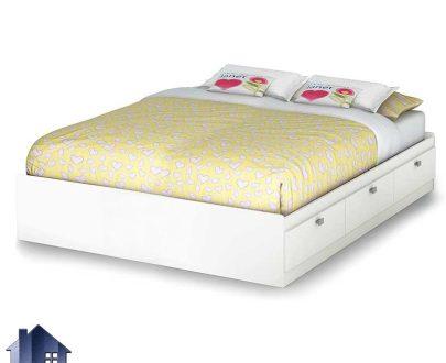 تخت خواب دو نفره DBJ159 دارای کشو که به عنوان تختخواب و باکس دونفره با دو سایز کینگ و کوئین در کنار سرویس خواب در داخل اتاق استفاده میشود.