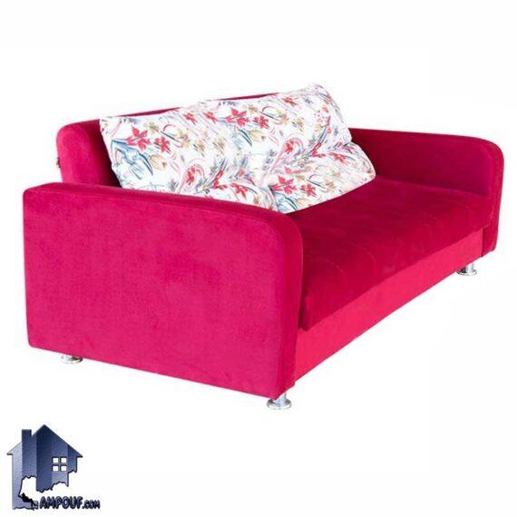 مبل تختخوابشو دو نفره آنا FFRA107 که به عنوان کاناپه، تخت خواب کمجا، مبلمان تخت شو و تاشو در پذیرایی و اتاق خواب و دفاتر اداری استفاده میشود.