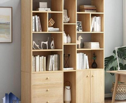 کتابخانه SCJ201 دارای قفسه و ویترین و کشو و درب که به عنوان جاکتابی و پارتیشن و جداکننده در پذیرایی و اتاق خواب مورد استفاده قرار میگیرد.