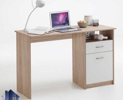میز تحریر SDJ343 دارای قفسه و کشو و جای کیس که به عنوان میز کامپیوتر و لپ تاپ و میز مطالعه کار و گیمینگ در کنار سرویس خواب استفاده میشود.