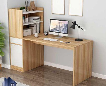 میز تحریر SDJ345 دارای کتابخانه و کشو و درب فایلینگ که به عنوان میز کار و مطالعه و میز کامپیوتر و لپ تاپ در کنار سرویس خواب قرار میگیرد