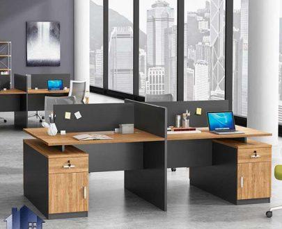 میز کار گروهی SDJ349 دارای 4 میز مجزا به صورت فایلینگ که به عنوان میز کار و مطالعه و میز کامپیوتر و لپ تاپ در محیط های اداری قرار میگیرد.