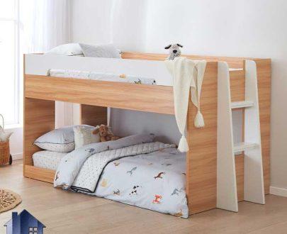 تخت خواب دو طبقه TBJ67 که به عنوان سرویس خواب دو نفره کمجا و تختخواب دوطبقه نوجوان و بزرگسال در اتاق خواب مورد استفاده قرار میگیرد.