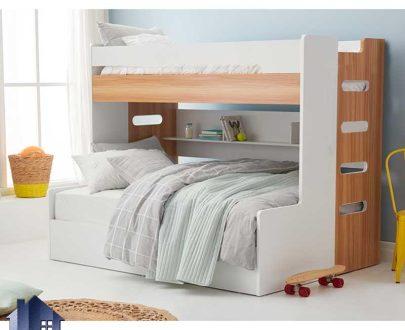 تخت خواب دو طبقه TBJ68 که به عنوان سرویس خواب کمجا و تختخواب نوجوان و بزرگسال دوطبقه در داخل اتاق خواب مورد استفاده قرار میگیرد.