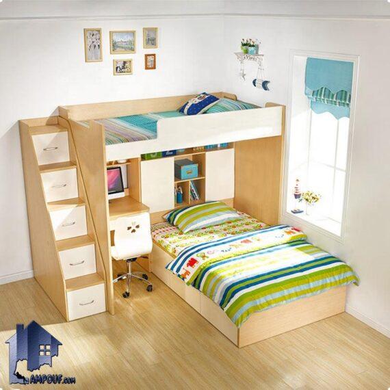 تخت خواب دو طبقه TBJ75