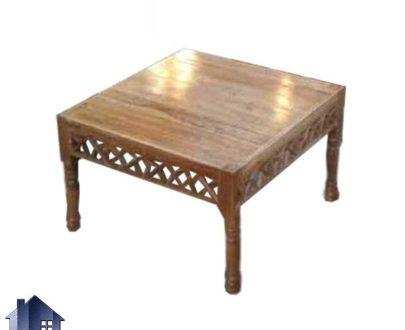میز جلومبلی سنتی TrK99 به صورت مربعی که در کنار تخت و صندلی و مبل باغی چوبی مشبک در منازل و قهوه خانه ها و رستوران سنتی استفاده میشود.