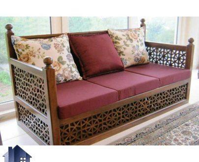 نشیمن تخت سنتی Trst269 که به عنوان تشک برای انواع مبلمان چوبی و تخت های قهوه خانه ای و کافی شاپ و رستوران های سنتی قابل استفاده میباشد.