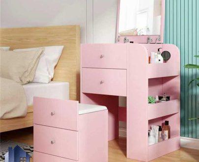 میز آرایش DJ528 دارای آینه تاشو و کمجا که به عنوان میز توالت و گریم و همچنین دراور و کنسول در کنار سرویس خواب در اتاق خواب استفاده میشود