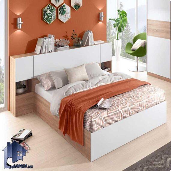تخت خواب یک نفره SBJ173 دارای درب داشبردی جکدار، قفسه و ویترین که به عنوان سرویس خواب و تختخواب یکنفره در اتاق نوجوان و بزرگسال قرار میگیرد